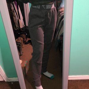 Gymshark grey sweatpants.